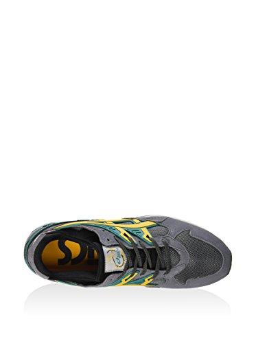 Asics Gel-Kayano Trainer, unisex adultos zapatillas de Gris / Oro