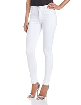 James Jeans Women's High Class Skinny, Frost White, 24