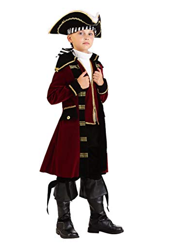 Big Boys' Deluxe Captain Hook Costume Medium Maroon -