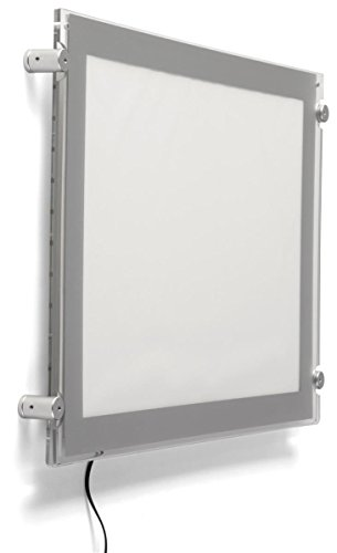 Displays2go Wall Hanging Edge-Lit 11 x 17 Frame, Horizontal Orientation, 60