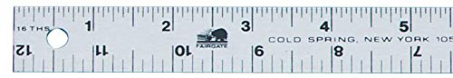 Fairgate Aluminum Straight-Edge Ruler (Set of 27) ()