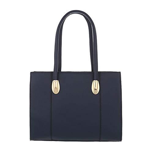 mujer Design Oscuro Ital Bolso de para Azul hombro Sintético al q0qfOdwBnH