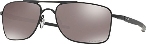 Oakley Men's Gauge 8 Polarized Iridium Rectangular Sunglasses, Matte Black, 57.01 - Sunglasses Oakley A Wire