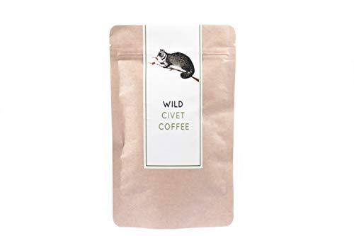 Kopi Luwak 100% Wild Civet Coffee Beans 100 g - El Cafe más Inusual y Caro del Mundo - Granos de Café Enteros