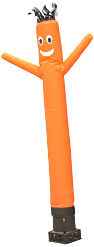 LookOurWay Air Dancers Inflatable Tube Man Complete Set with 1/4 HP Sky Dancer Blower, 6-Feet, Orange ()
