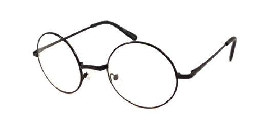 JOHN LENNON Vintage Round Retro Large Metal Frame Clear Lens Eye Glasses - Spectacles Lennon John
