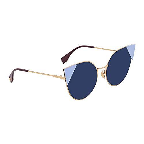 Fendi Women's Arrow Accent Sunglasses, Rose Gold Blue/Blue, One ()