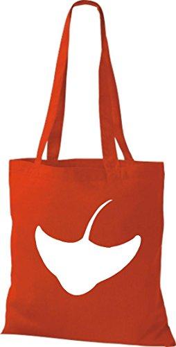 Unbekannt - Bolso de tela de algodón para mujer Rojo