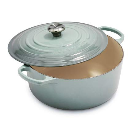 (Le Creuset Signature Round Dutch Oven, 9 qt, Sea Salt )