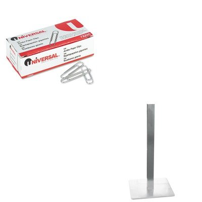KITMLNCA411SUNV72220 - Value Kit - Mayline Hospitality Table Square Pedestal Base (MLNCA411S) and Universal Smooth Paper Clips (Mayline Square)