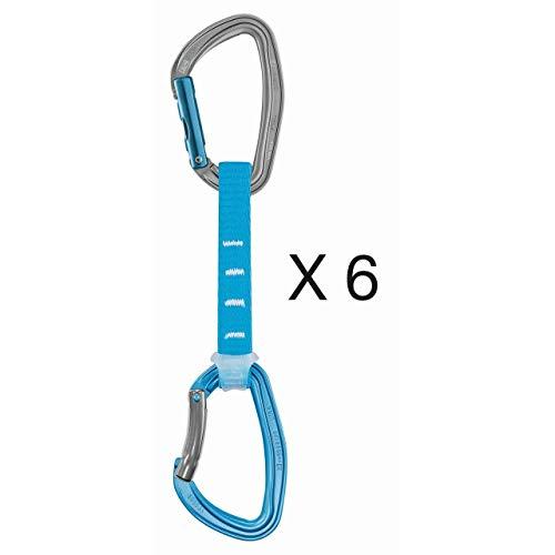 PETZL - Pack 6 Djinn Axess Quickdraw, Blue, 12 cm (Best Climbing Packs 2019)