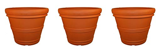 Tusco Products T30 Rolled Rim Pot, Round, Terra Cotta, 30-Inch (Pack of 3)