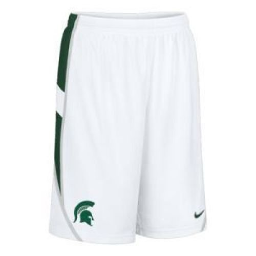 Nike White Twill Shorts - Nike Michigan State Spartans Twill Bb Short - Men - 2XL