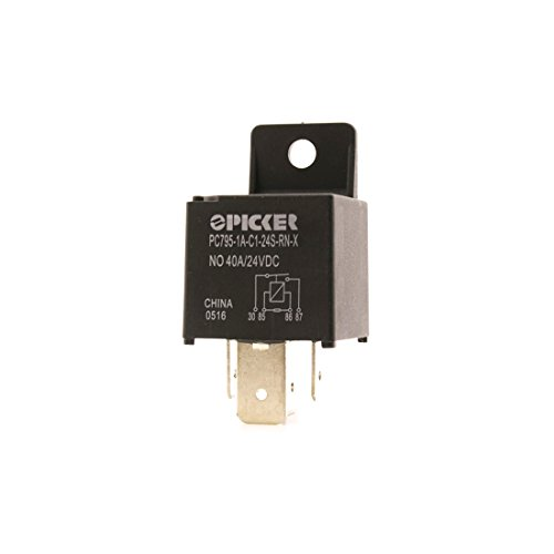 PC795-1A-C1-24S-RN-X | 4 Pin SPST 24 VDC Coil 80/60 Amp Maxi ISO Sealed Automotive Plug-in Relay w/Plastic Mounting Bracket & Resistor Across Coil | Cross: Song Chuan 897-1AH-S-R1-24VDC