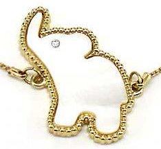 Jewelry Nexus Elephant Shell with Crystal Elements Sliding Knot Adjustable Bracelet