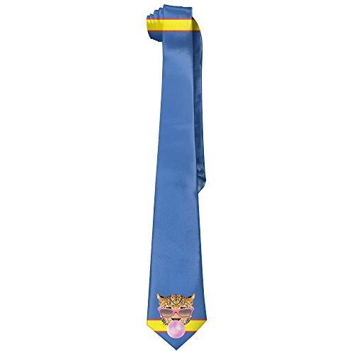 Tiger Pingk Sunglasses Bubble Men's Polyester Silk Wide Ties/Necktie/Necktie - White Sunglasses Bubble