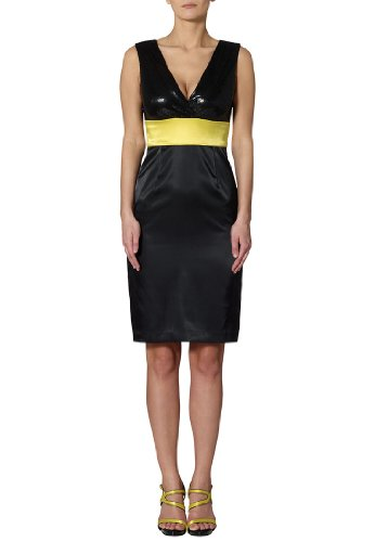 873e4019e8e0 ... APART Fashion - Satinkleid, Farbe schwarz-limone Schwarz-limone ...