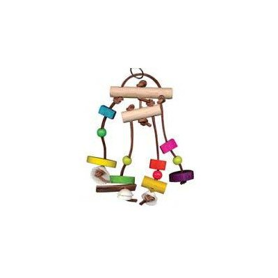 Bodacious Bites Bird Toy Size: Small, Color: Multi Colored