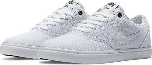 NIKE Womens WMNS SB Check Solarsoft White White Black Size (White Nike Sb)