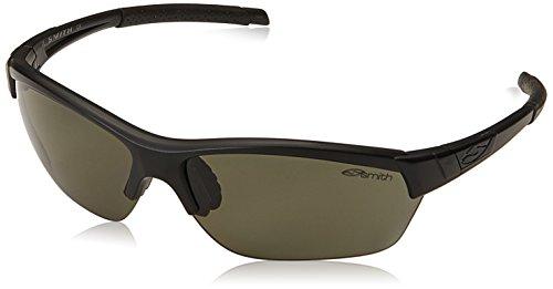 Smith Optics Approach Max Sunglasses, Matte Black Frame, Polar Gray Green Carbonic TLT Lenses