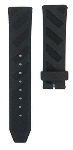 22mm City BU9805, BU9809, BU9806, BU9807, BU9808, BU9812 Rubber Watches Band Strap - Burberry Strap Replacement