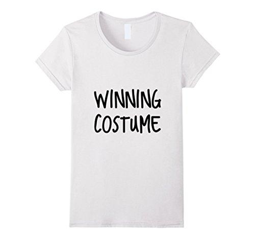 Winning Halloween Costumes For Women (Womens Funny Halloween Winning Costume Tshirt T shirt Large White)
