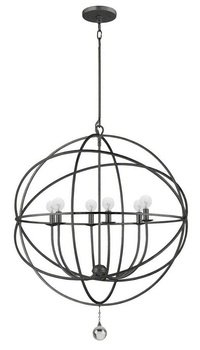 Bronze English Pendant (9228-EB Solaris 6LT Pendant, English Bronze Finish)