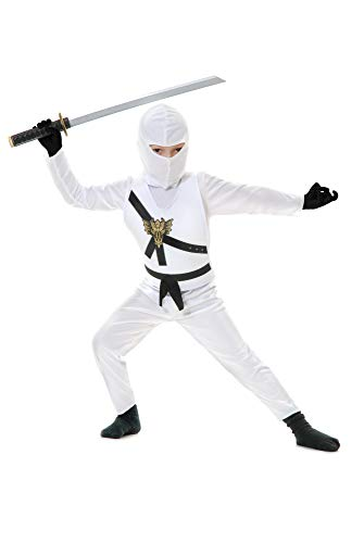 Charades Child's Ninja Avenger Costume, White, Large -