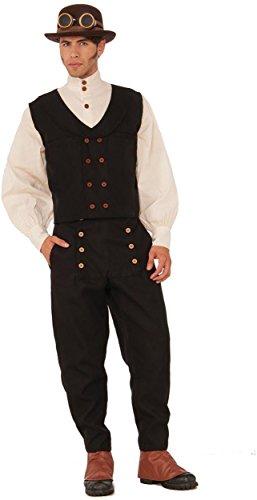 Forum Novelties 76368 Adult's Black Steampunk Vest, One Size