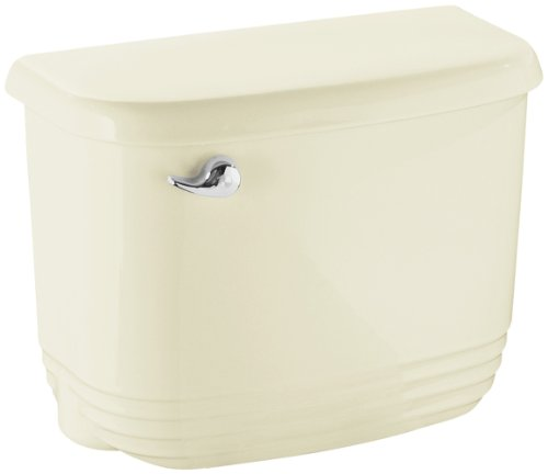 STERLING 404522-U-96 Riverton Insulated Tank with Chrome Trip Lever, Biscuit