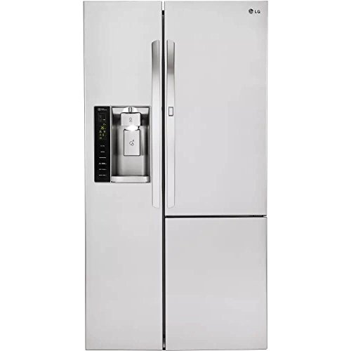 Counter Depth Side (LG LSXC22486S 22 cu. ft. Capacity Side-by-Side Counter-Depth Refrigerator with Door-in-Door)