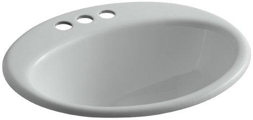 KOHLER K-2905-4-95 Farmington Self-Rimming Bathroom Sink, Ice Grey