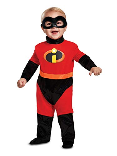 Disguise Baby Incredibles Infant Classic Costume, red, (6-12 mths) (Jak Costume)
