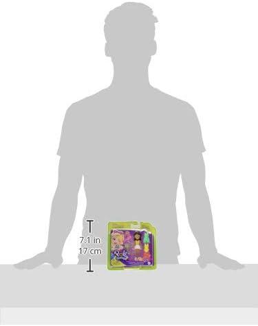Polly Pocket Cookout Cutie Shani Poup/ée 7 cm avec Accessoires de Cuisine et Accessoires de Mode
