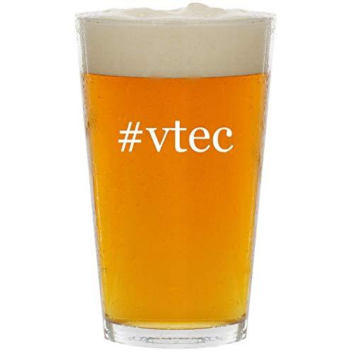 #vtec - Glass Hashtag 16oz Beer Pint