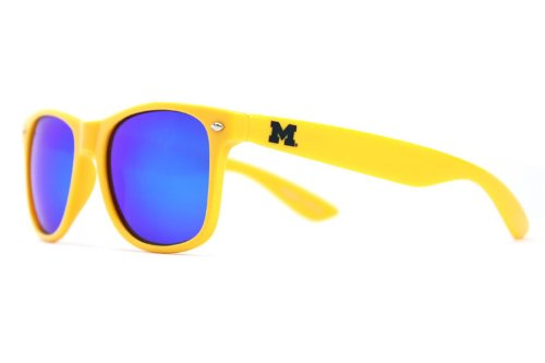 ines MICH-2 Gold Frame, Blue Lens Sunglasses, One Size, Gold (Michigan Wolverines Sunglasses)