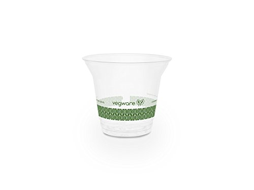 Cold Pla Cups - Vegware R300S-G 9oz Standard PLA Cold Cup (Case of 1000)