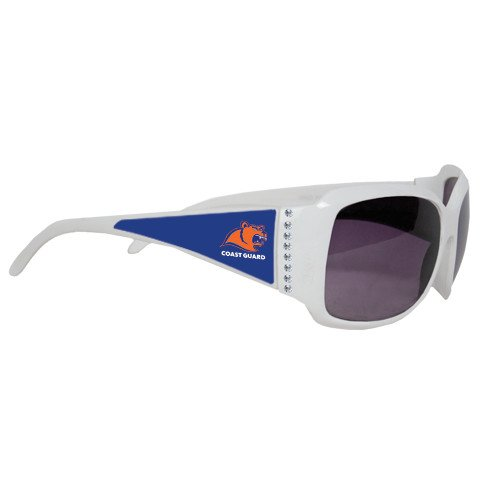 Coast Guard Ladies White Rhinestone Sunglasses 'Primary - Sunglasses Guard Coast