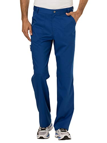 Cherokee Men's Fly Front Pant, Galaxy Blue Small from Cherokee