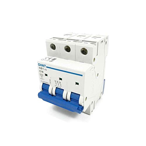 3 Pole Chint NB1-63DH3P32 Series Miniature Circuit Breaker 32 A D Curve 10 kA