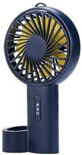 USB Rechargeable Ventilator,Table Cooler Rotate Fan Detachable Base for Office//Outdoor Travel Fashion Happy Roam Convenient Convenient Fashion Mini Handheld Portable Fan Color : Black