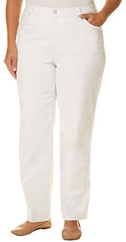 Gloria Vanderbilt Plus Amanda Solid Slim Fit Jeans 18W Short Vintage White