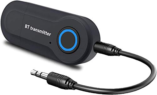 ZXFD Bluetooth Transmitter, Bluetooth 5.0 for 3.5mm Audio Devices & RCA Connections, Wireless Portable Stereo USB…