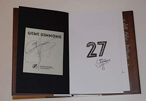 Gene Simmons Signed Autographed 27 First Edition Hardcover Book Kiss ()