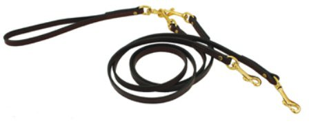 No Tangle Leather Coupler Leash - 1/2'' X 60'' (Burgundy) by Auburn Leathercraft