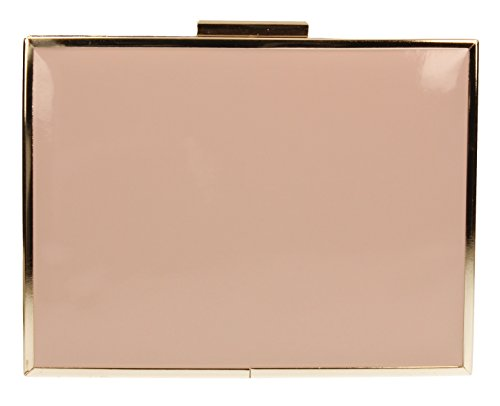 SwankySwansKate Box Patent Leather Holograph - Sacchetto donna Blush Pink