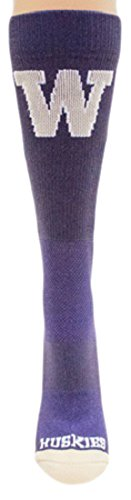 Donegal Bay NCAA Washington Huskies Sport Socks, Purple, One ()
