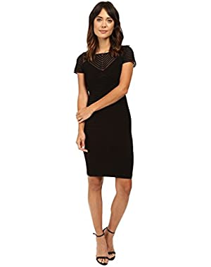 Calvin Klein Womens Short Sleeve Pin Tuck Dress CD6A1Q8C