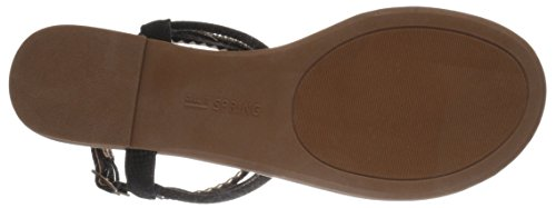 Sandal It Black Bronzola Call Spring Women's Flat PZwwA0q