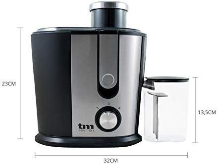 Tm Electron TMPLU001 Licuadora con Carcasa compacta en Acero Inoxidable Desmontable y 2 ajustes de Velocidad, 500 W